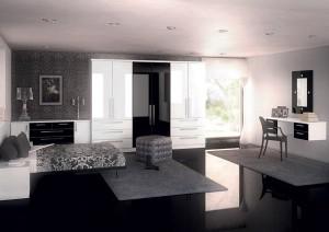 Phoenix-Gloss-White-&-Black-Bedroom